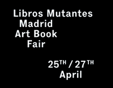 "Expositora en feria Libros Mutantes (Madrid)<br /> <span class=""en"">Participation in Libros Mutantes (Madrid)</span>"